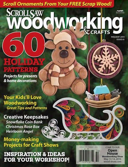Scroll Saw Woodworking & Crafts Cover - 12/1/2015