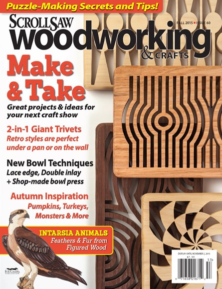 Scroll Saw Woodworking & Crafts Cover - 9/1/2015