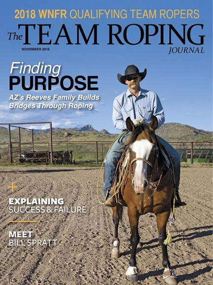 The Team Roping Journal Cover - 11/1/2018