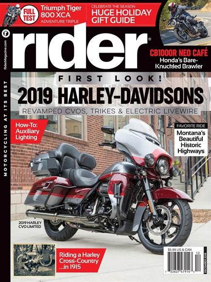 Rider Cover - 12/1/2018
