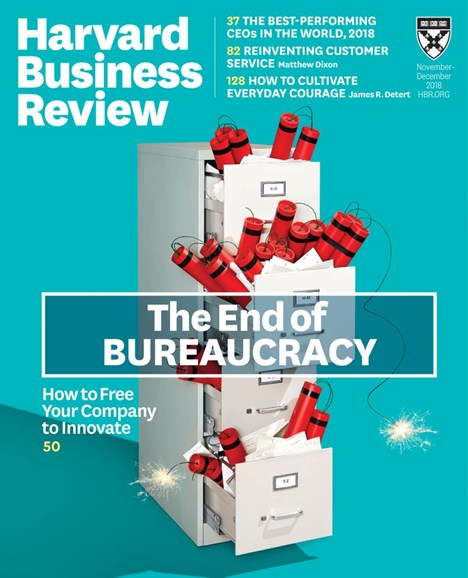 Harvard Business Review Cover - 11/1/2018