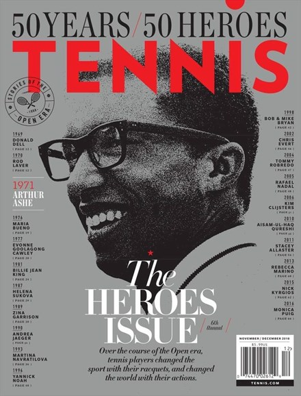 Tennis Magazine Cover - 11/1/2018