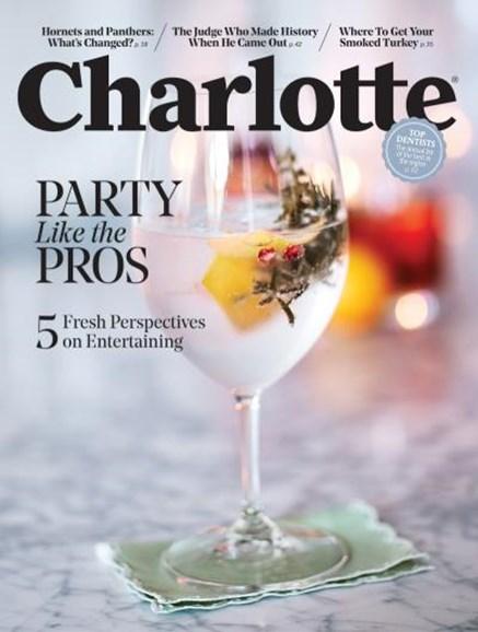 Charlotte Magazine Cover - 11/1/2018