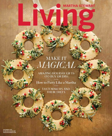 Martha Stewart Living Cover - 12/1/2018
