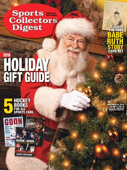 Sports Collectors Digest Cover - 11/23/2018
