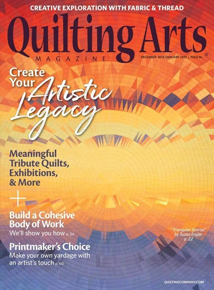 Quilting Arts Cover - 12/1/2018