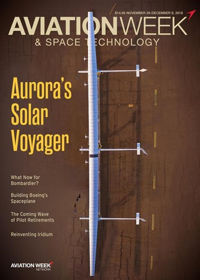 Aviation Week & Space Technology Cover - 11/26/2018