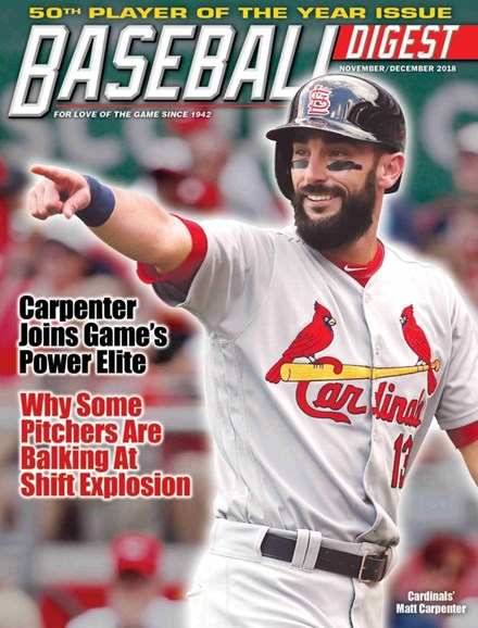 Baseball Digest Cover - 11/1/2018