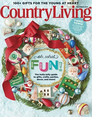 Country Living Magazine 12 2018 Cover