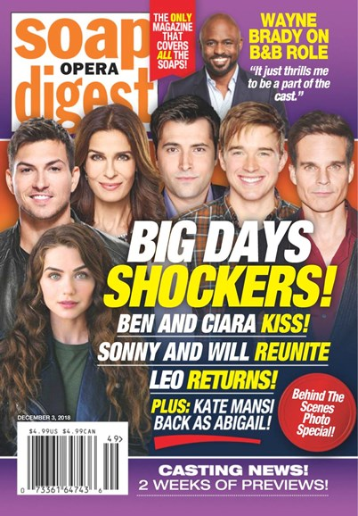 Soap Opera Digest Cover - 12/3/2018