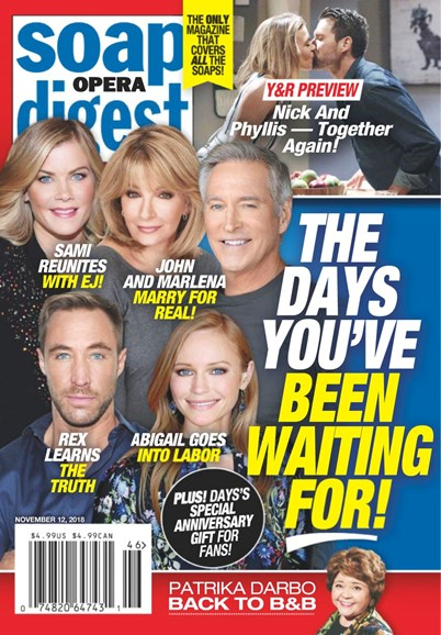 Soap Opera Digest Cover - 11/12/2018