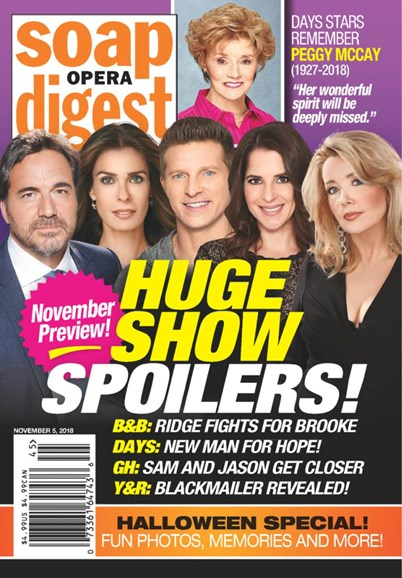 Soap Opera Digest Cover - 11/5/2018