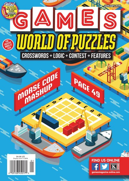Games World of Puzzles Cover - 1/1/2019