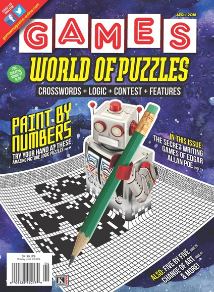 Games World of Puzzles Cover - 4/1/2018