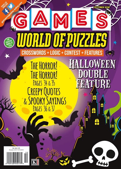 Games World of Puzzles Cover - 10/1/2018