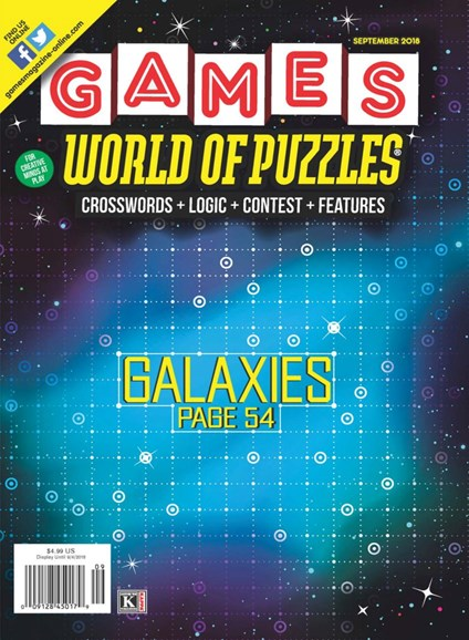 Games World of Puzzles Cover - 9/1/2018