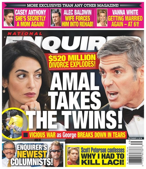 National Enquirer Cover - 12/3/2018