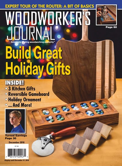 Woodworker's Journal Cover - 12/1/2018