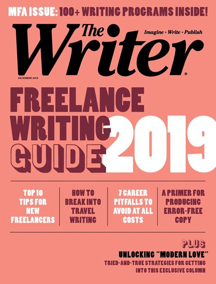 The Writer Cover - 12/1/2018