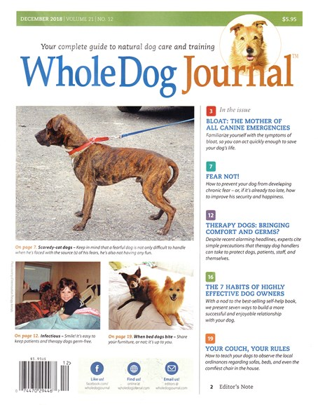Whole Dog Journal Cover - 12/1/2018