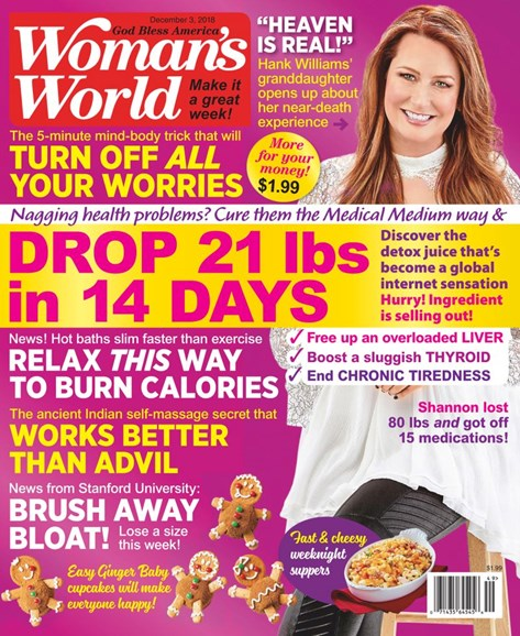 Woman's World Cover - 12/3/2018