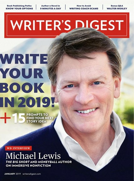Writer's Digest Cover - 1/1/2019