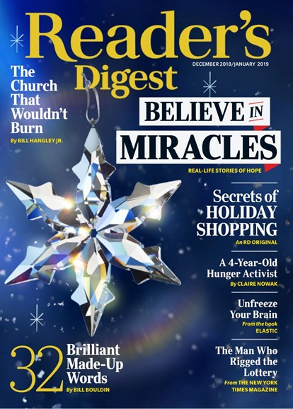 Reader's Digest Cover - 12/1/2018