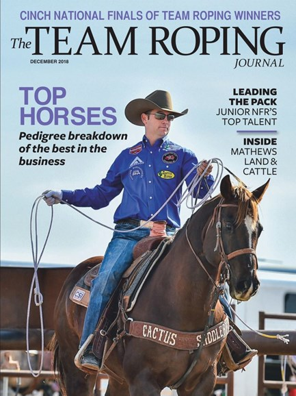 The Team Roping Journal Cover - 12/1/2018