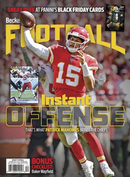 Beckett Football Cover - 12/1/2018