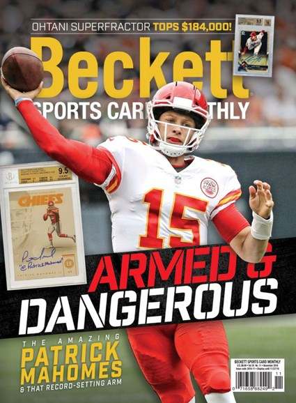 Beckett Sports Card Monthly Cover - 11/1/2018
