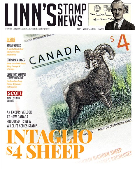 Linn's Stamp News Monthly Cover - 9/17/2018