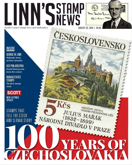Linn's Stamp News Weekly Cover - 8/20/2018
