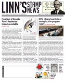 Linn's Stamp News Magazine 8/27/2018