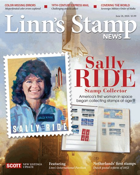 Linn's Stamp News Monthly Cover - 6/18/2018
