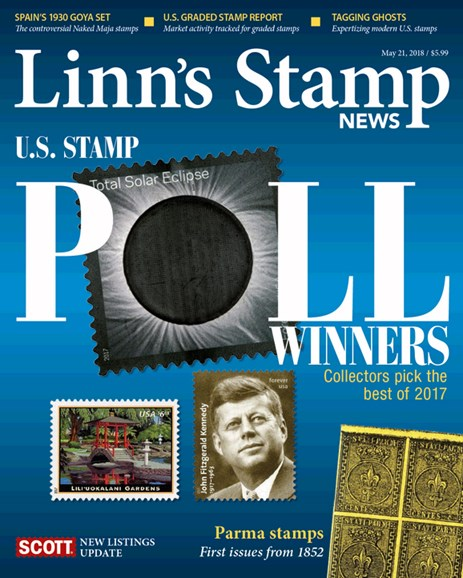 Linn's Stamp News Monthly Cover - 5/21/2018