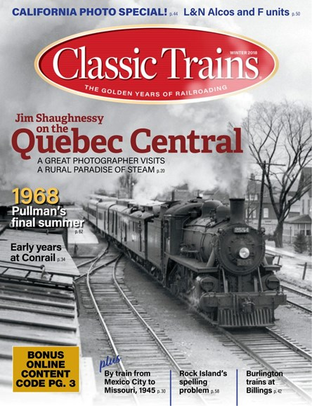 Classic Trains Cover - 12/1/2018