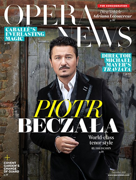 Opera News Cover - 12/1/2018