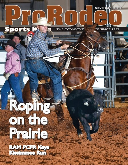Pro Rodeo Sports News Cover - 11/2/2018