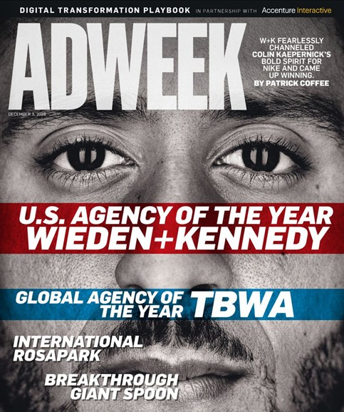 Adweek Cover - 12/3/2018