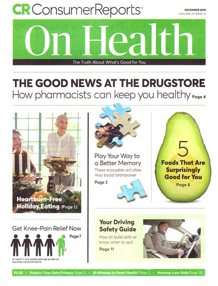 Consumer Reports On Health Cover - 12/1/2018