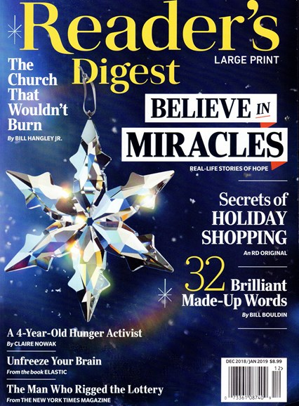 Reader's Digest - Large Print Edition Cover - 12/1/2018