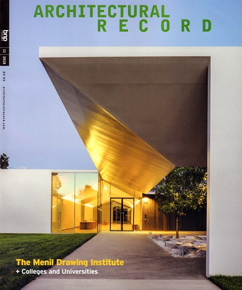 Architectural Record Cover - 11/1/2018