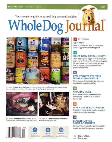 Whole Dog Journal Cover - 11/1/2018