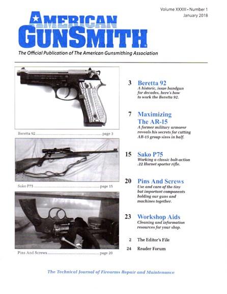 American Gunsmith Cover - 1/1/2018