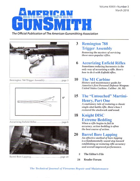 American Gunsmith Cover - 3/1/2018