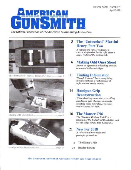 American Gunsmith Cover - 4/1/2018