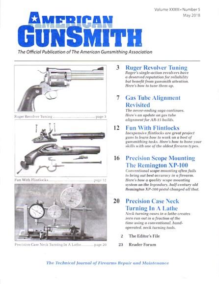 American Gunsmith Cover - 5/1/2018