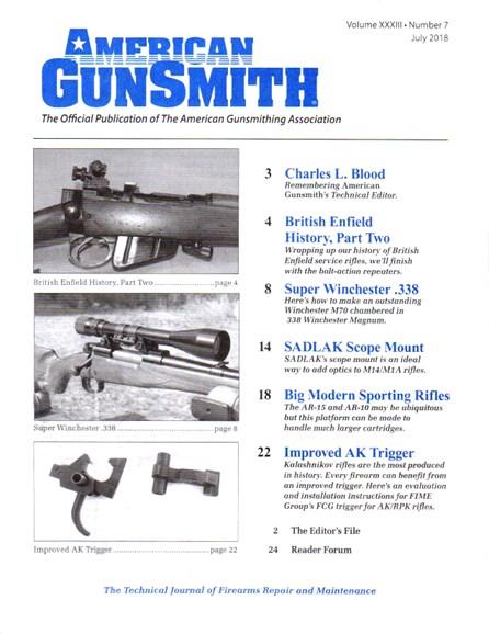American Gunsmith Cover - 7/1/2018
