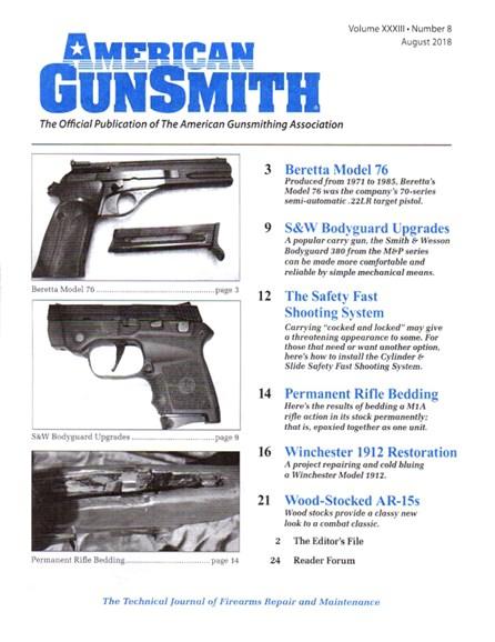 American Gunsmith Cover - 8/1/2018