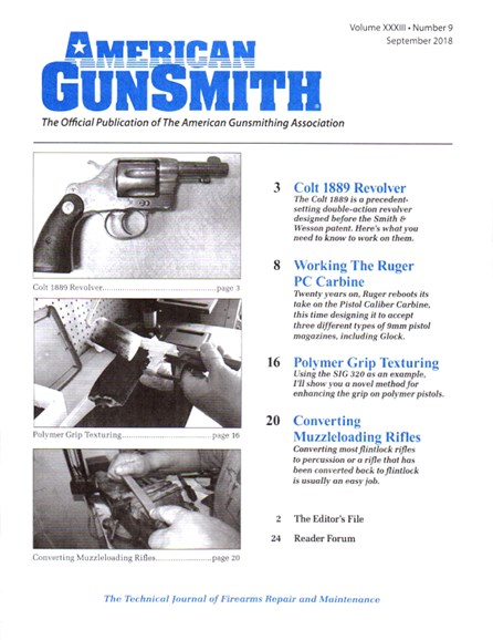 American Gunsmith Cover - 9/1/2018
